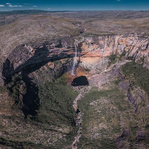 Cachoeira do Tabuleiro vista de cima